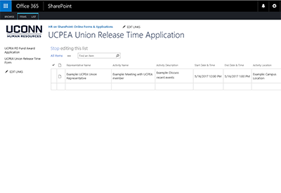 Union Release Time Form